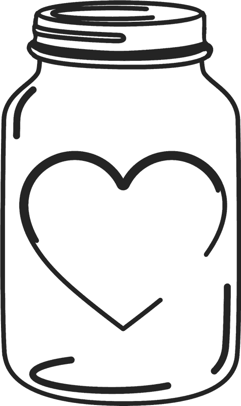 mason jar rubber stamp with heart mirrored mason wedding rh stamptopia com mason jar clip art black and white mason jar clip art images
