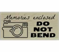 "Memories Enclosed Rubber Stamp - 2.5"" X 1"" - Stamptopia"