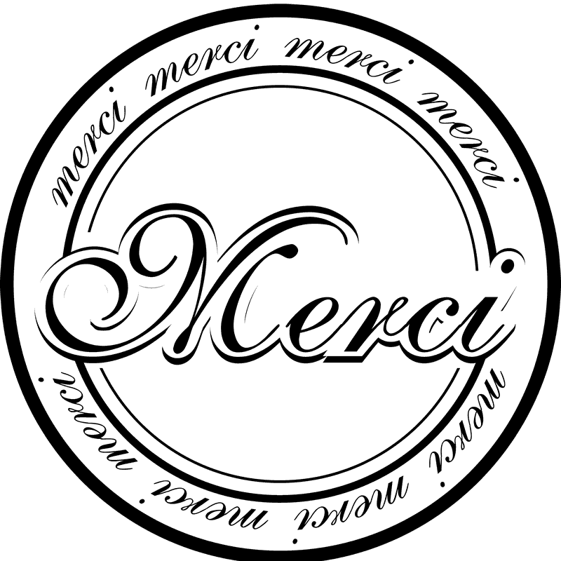 Merci Rubber Stamp - Stamptopia