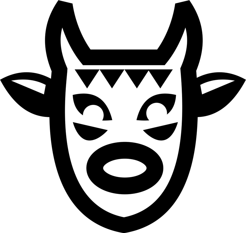 Mexican Folk Mask Rubber Stamp - Stamptopia