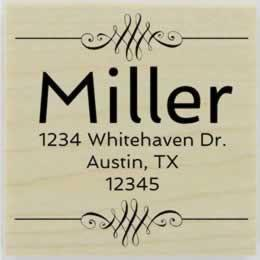 "Miller Decorative Border Address Stamp - 1.5"" X 1.5"" - Stamptopia"