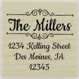 "Miller Decorative Name Border Address Stamp - 2"" X 2"" - Stamptopia"