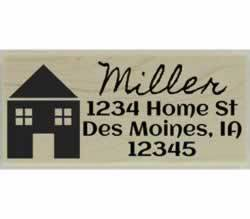 "Miller Home Return Address Stamp - 2.5"" X 1"" - Stamptopia"