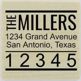 "Miller Large Zip Code Address Stamp - 1.5"" X 1.5"" - Stamptopia"