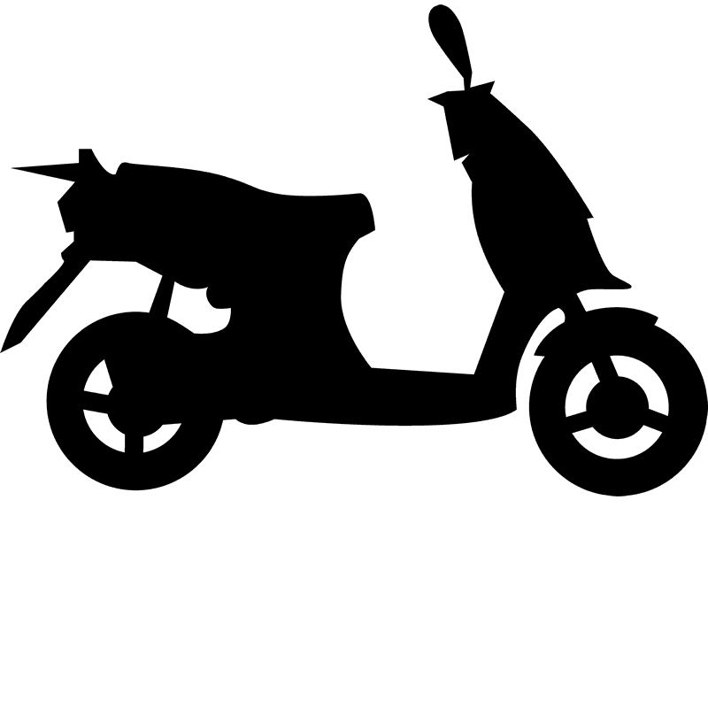 Moped Rubber Stamp - Stamptopia
