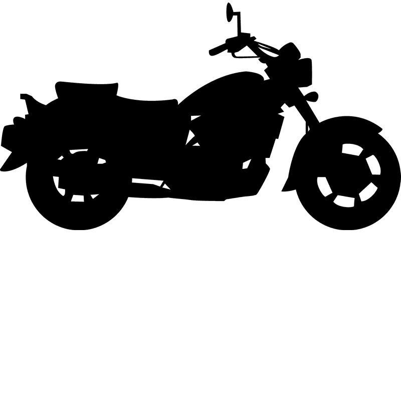 Motorcycle Rubber Stamp - Stamptopia