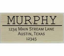 "Murphy Line Divider Address Stamp - 2.5"" X 1.25"" - Stamptopia"