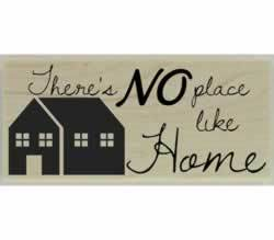 "No Place Like Home Quote Stamp - 2.5"" X 1"" - Stamptopia"