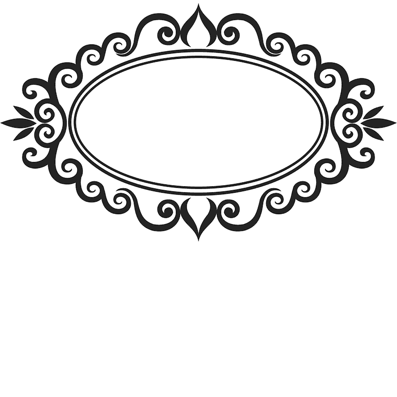 Ornamental Oval Rubber Stamp - Stamptopia