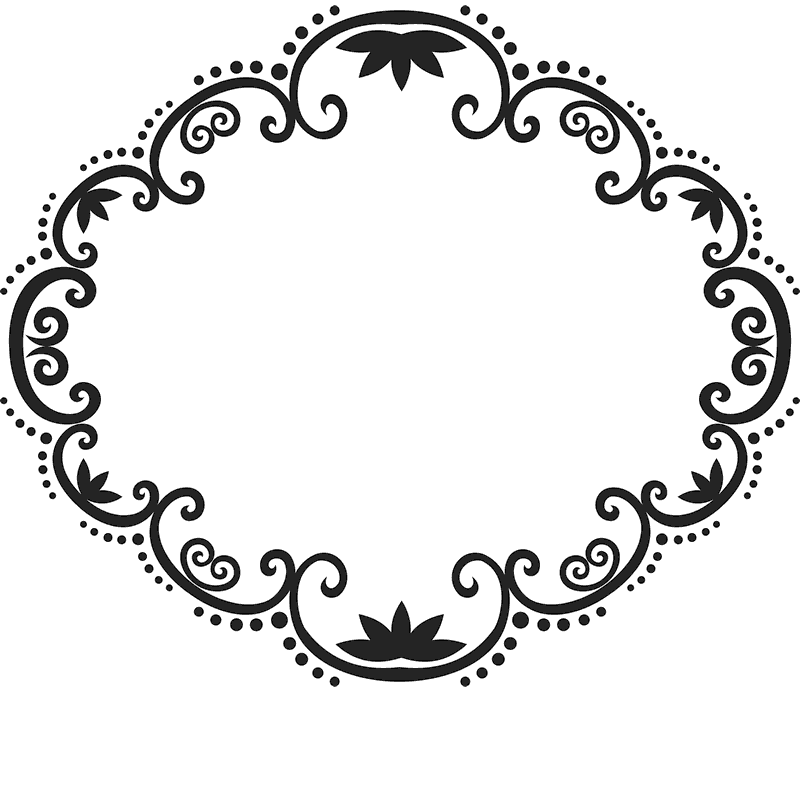 Ornate Circle Rubber Stamp - Stamptopia