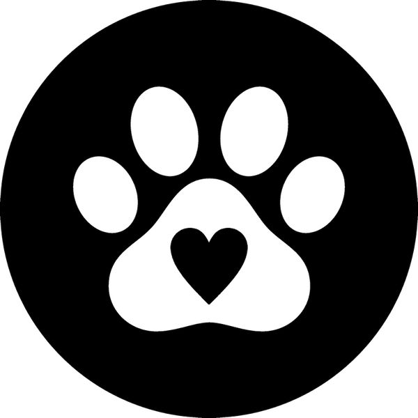 Paw Print Seal With Heart Rubber Stamp - Stamptopia