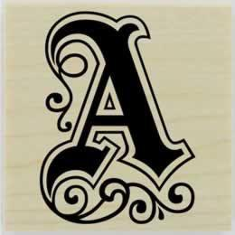 "Personalized Swirling Monogram Stamp - 1.5"" X 1.5"" - Stamptopia"