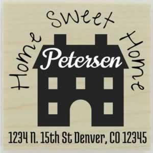 "Petersen Home Sweet Home Address Stamp - 1.5"" X 1.5"" - Stamptopia"