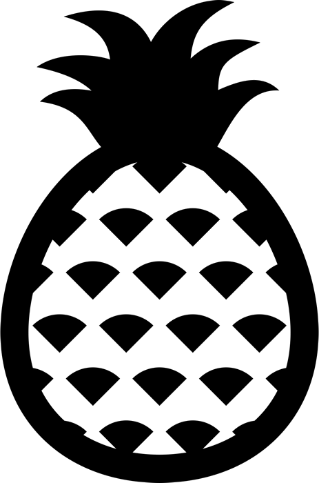 Pineapple Outline Rubber Stamp Food Stamps Fruit And