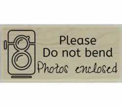 "Please Do Not Bend Stamp - 2.5"" X 1"" - Stamptopia"