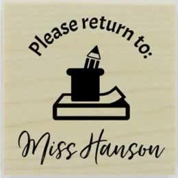 "Please Return To Personal Library Stamp - 1.5"" X 1.5"" - Stamptopia"
