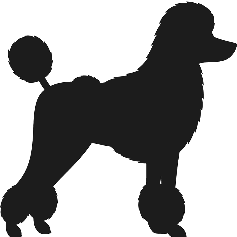 Poodle Stamp (Silhouette) - Stamptopia