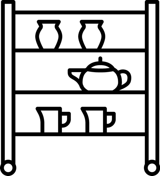Pottery Drying Rack Rubber Stamp - Stamptopia