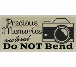 "Precious Memories Enclosed Rubber Stamp - 2.5"" X 1"" - Stamptopia"