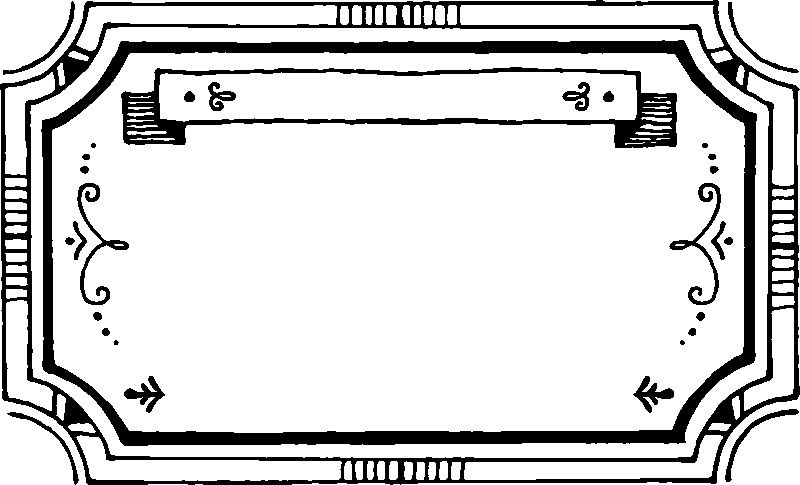 Rectangle Border With Banner Rubber Stamp