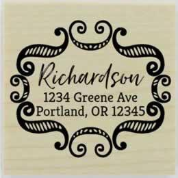 "Richardson Ornamental Border Address Stamp - 2"" X 2"" - Stamptopia"
