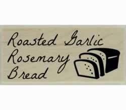 "Roasted Garlic Rosemary Bread Stamp - 2"" X 1"" - Stamptopia"