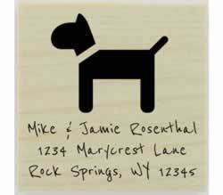 "Rosenthal Custom Dog Address Stamp - 1.5"" X 1.5"" - Stamptopia"