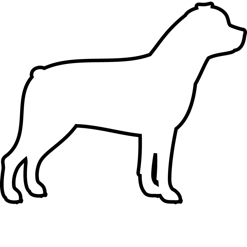 Rottweiler Rubber Stamp (Outline) - Stamptopia