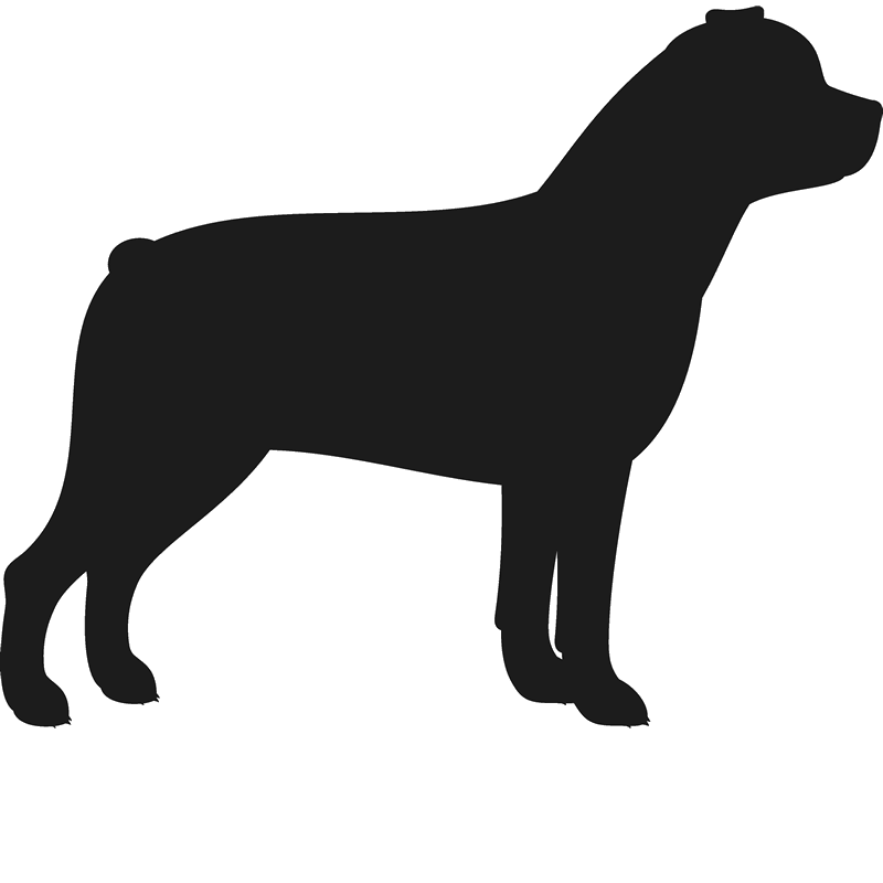 Rottweiler Stamp (Silhouette) - Stamptopia