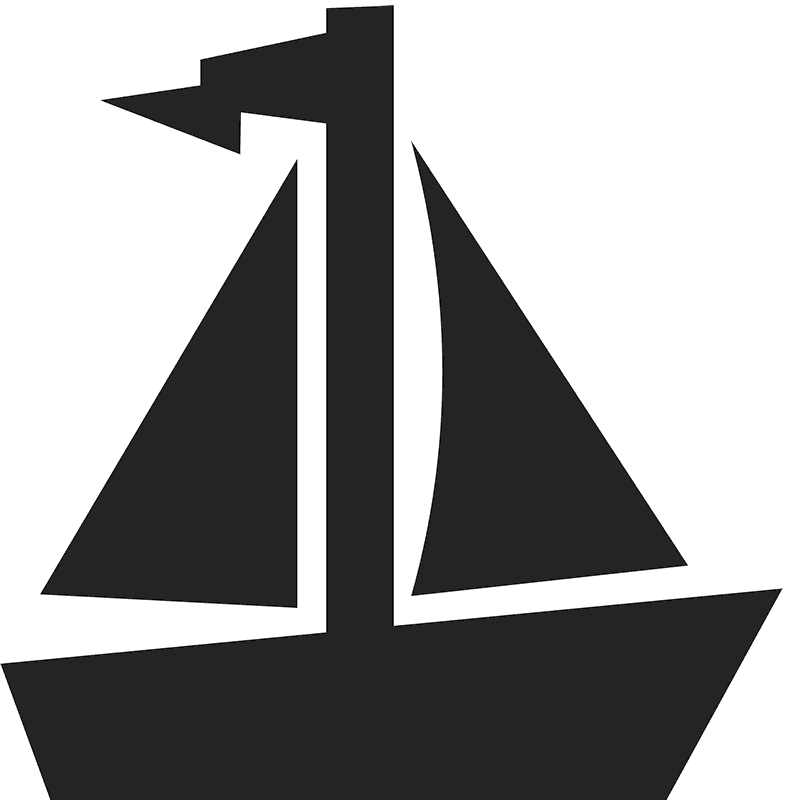 Sailboat Icon Stamp - Stamptopia
