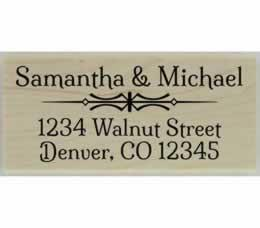 "Samantha Decorative Divider Address Stamp - 2.5"" X 1.25"" - Stamptopia"