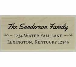 "Sanderson Custom Return Address Stamp - 2.5"" X 1.25"" - Stamptopia"