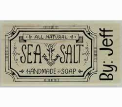 "Sea Salt Handmade Soap Custom Stamp - 3"" X 1.5"" - Stamptopia"