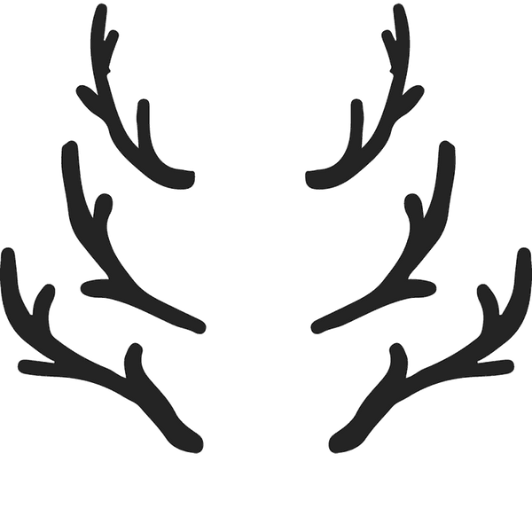 Set Of 3 Antlers Rubber Stamp - Stamptopia