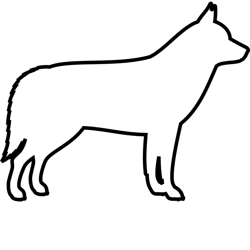 Siberian Husky Rubber Stamp (Outline) - Stamptopia