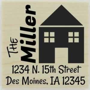"Side Name Home Address Stamp - 1.5"" X 1.5"" - Stamptopia"