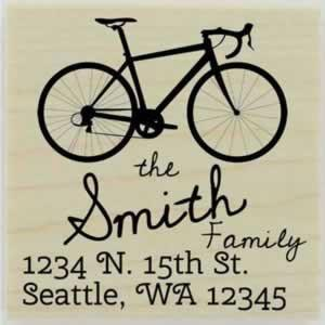 "Smith Custom Bike Address Stamp - 1.5"" X 1.5"" - Stamptopia"