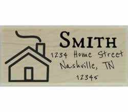 "Smith Custom Home Return Address Stamp - 2.5"" X 1"" - Stamptopia"