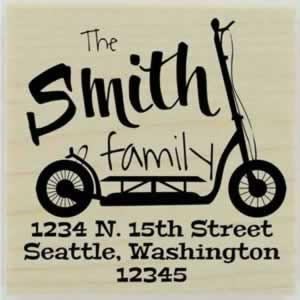"Smith Custom Scooter Address Stamp - 1.5"" X 1.5"" - Stamptopia"