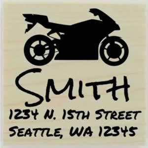 "Smith Motorcycle Return Address Stamp - 1.5"" X 1.5"" - Stamptopia"