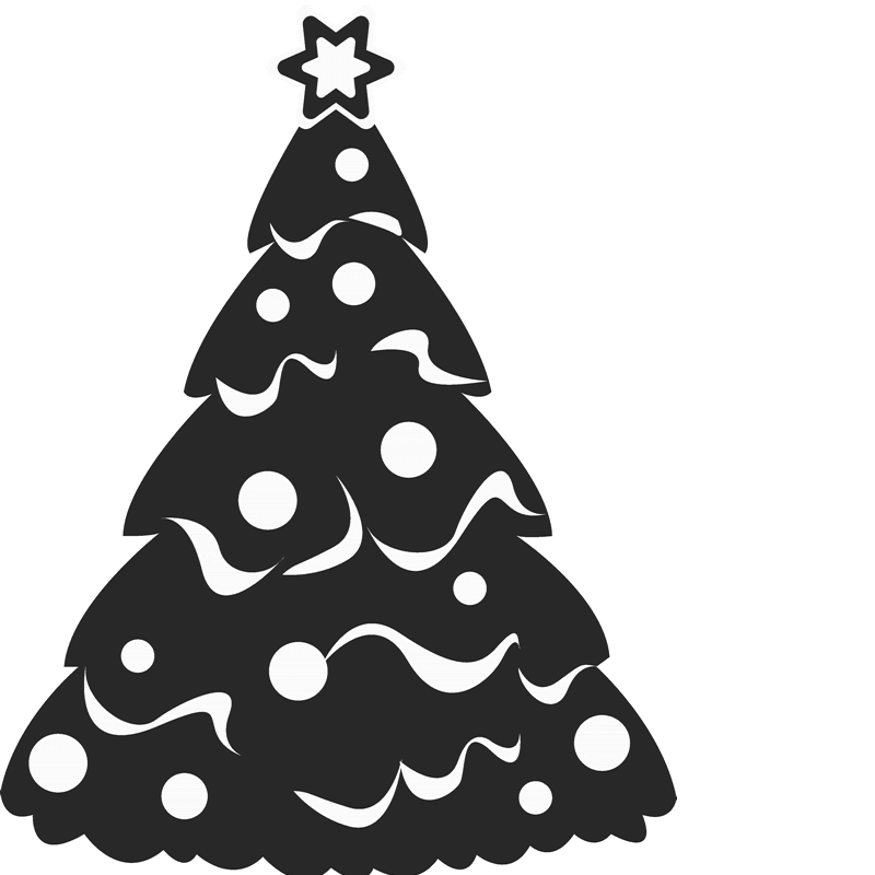 Snowy Christmas Tree Rubber Stamp - Stamptopia