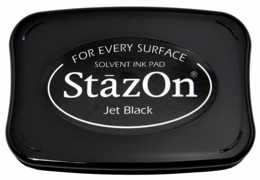 StazOn Permanent - Jet Black - Stamptopia
