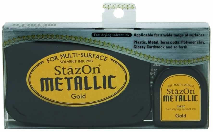 Stazon Permanent - Metallic Gold - Stamptopia