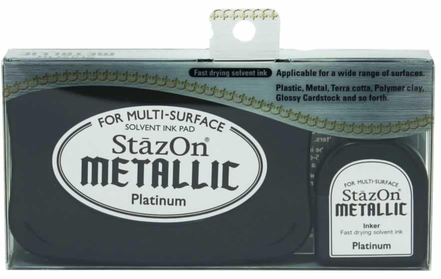 Stazon Permanent - Metallic Platinum - Stamptopia