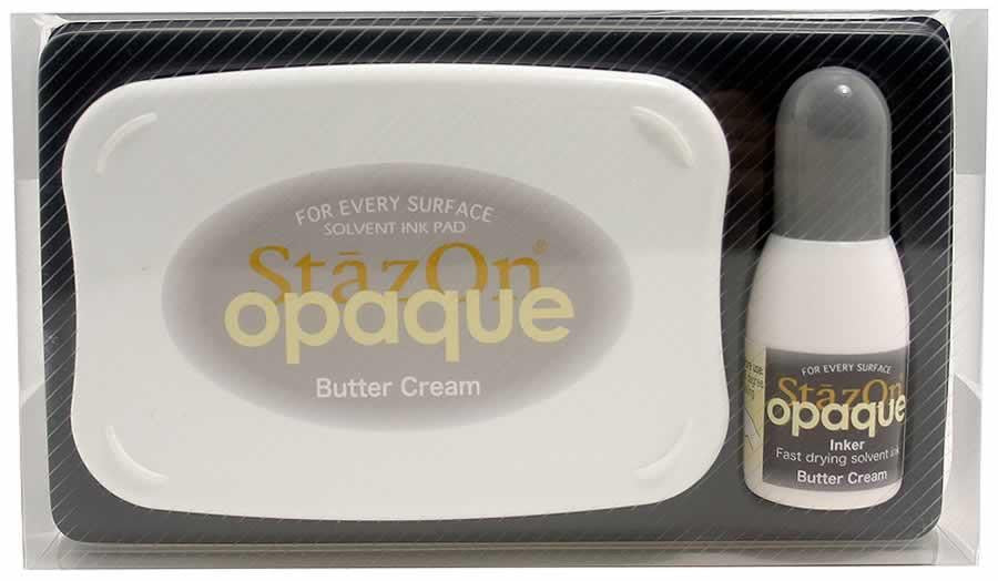 Stazon Permanent - Opaque Butter Cream - Stamptopia