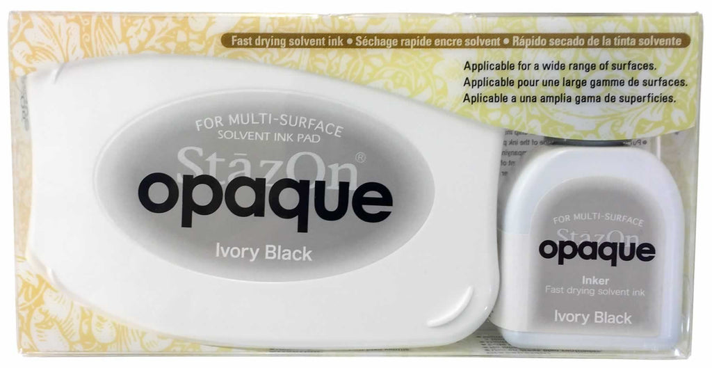 Stazon Permanent - Opaque Ivory Black - Stamptopia