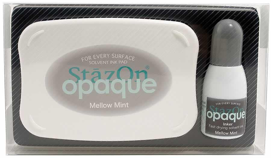 Stazon Permanent - Opaque Mellow Mint - Stamptopia