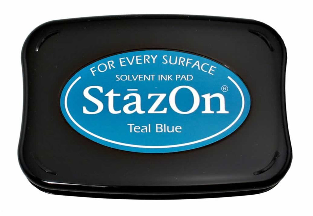 Stazon Permanent - Teal Blue - Stamptopia