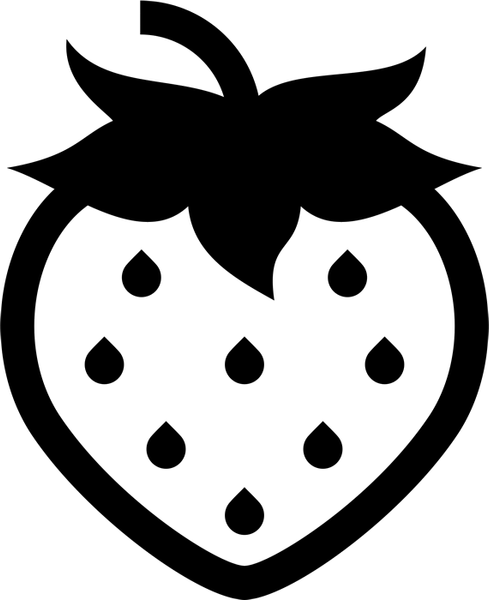 Strawberry Outline Rubber Stamp Food Stamps Fruit And