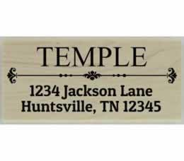 "Temple Decorative Divider Address Stamp - 2.5"" X 1.25"" - Stamptopia"